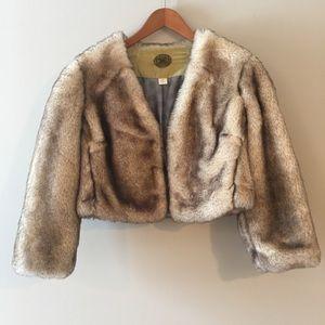 Anthropologie | Idra Faux fur jacket size 6